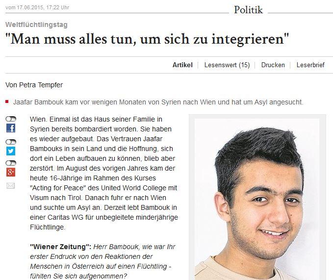 Wiener Zeitung (17.6.2015)