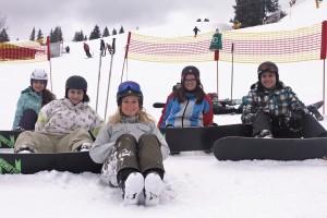 Snowboarder mit Dani