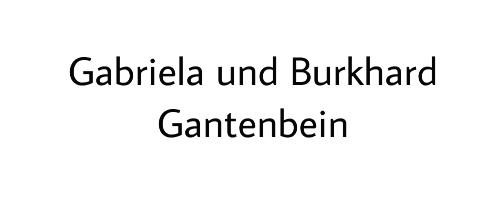 Gabriela und Burkhard Gantenbein