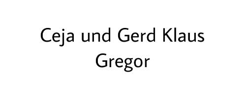 Ceja und Gerd Klaus Gregor