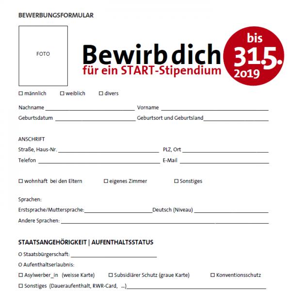 Bewerbungsformular Oberösterreich